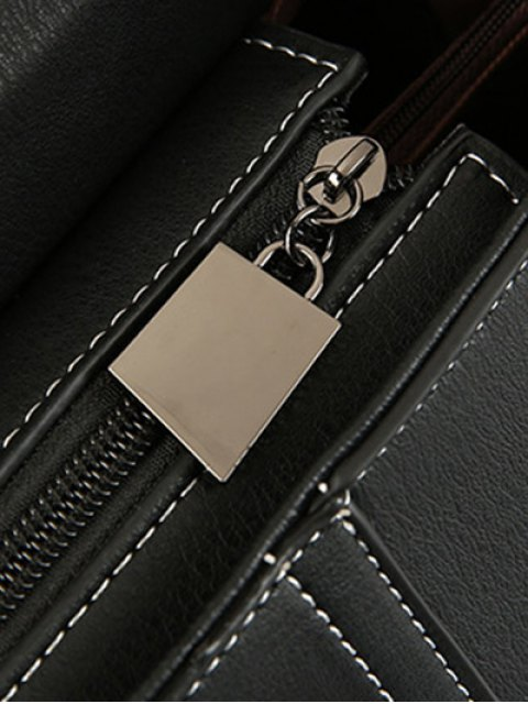 outfits Stiching Buckle Strap Handbag - RED  Mobile