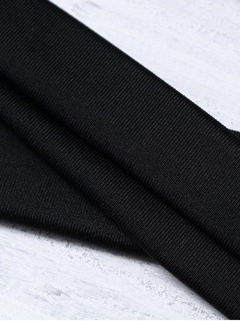 online Bandage High Waist Bikini Set - BLACK L Mobile