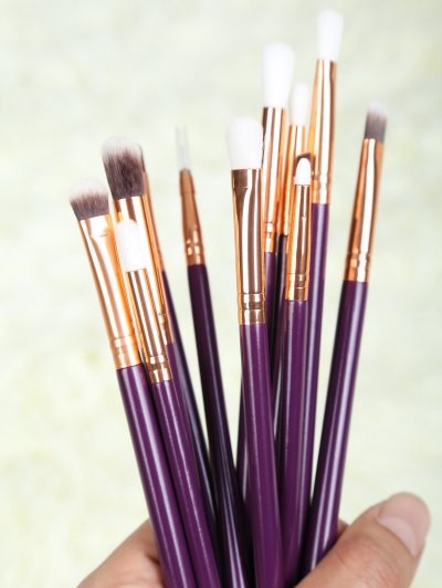Eye Nylon Makeup Brushes Set - PURPLE  Mobile