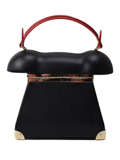 Novelty Telephone Shaped Evening Bag - BLACK  Mobile
