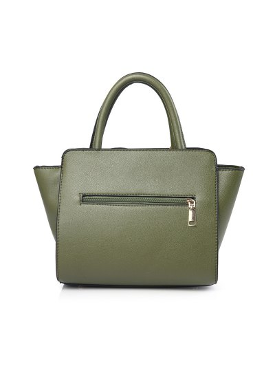 Patches Winged Pompon Detail Handbag - GREEN  Mobile