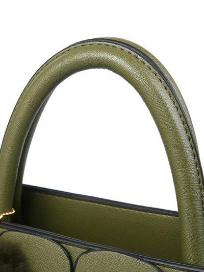 Patches Winged Pompon Detail Handbag - BLACK  Mobile