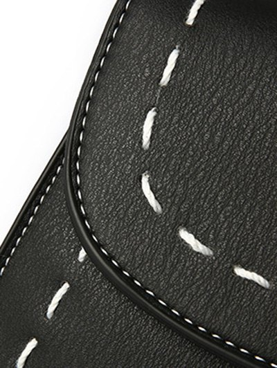 Stiching Buckle Strap Handbag - ARMY GREEN  Mobile