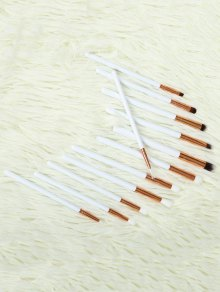 Eye Nylon Makeup Brushes Set - White