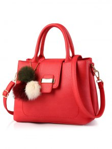 Buy Faux Leather Handbag Pom - RED