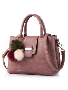 Buy Faux Leather Handbag Pom - PEONY PINK