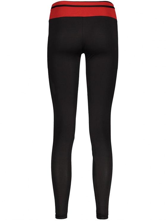 Skinny Active Leggings - BLACK M Mobile