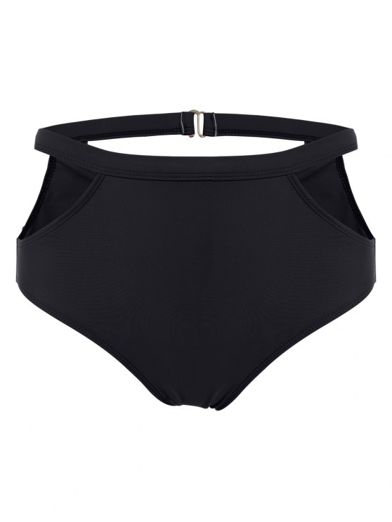 High Waisted Caged Bikini - BLACK M Mobile