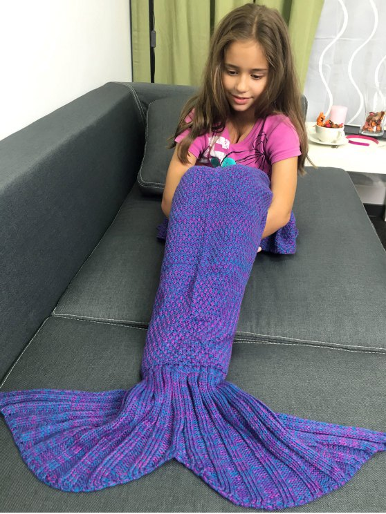 Knitted Sleeping Bags Mermaid Tail Blanket -   Mobile
