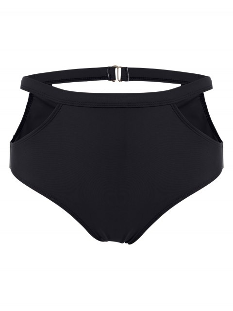 trendy High Waisted Caged Bikini - BLACK M Mobile