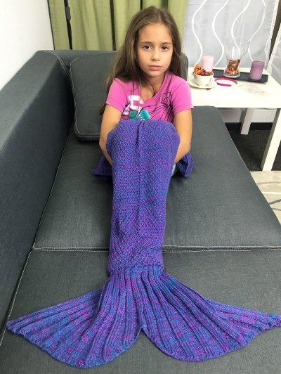 Knitted Sleeping Bags Mermaid Tail Blanket - BLUISH VIOLET  Mobile