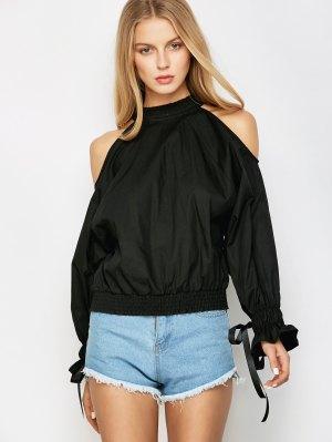 Cold Shoulder Blouse - Black