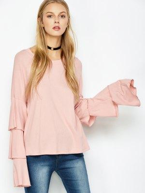 Multi-Layered Sleeve Knitwear - Pink