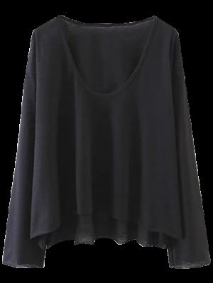 Long Sleeve Swing Tee - Black