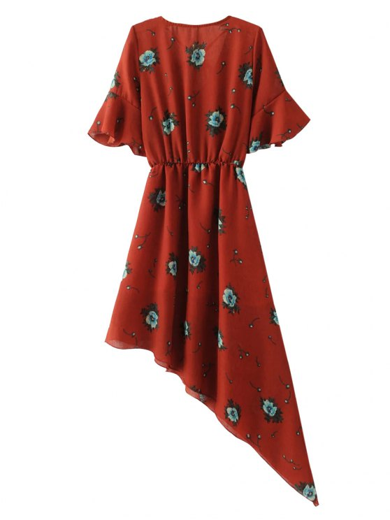 Asymmetric Floral Dress - JACINTH M Mobile