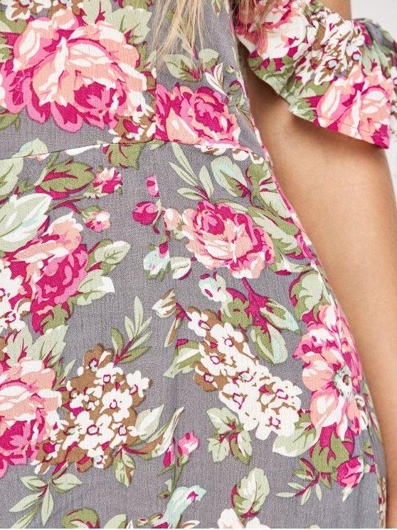 Maxi Off The Shoulder Dress - FLORAL S Mobile