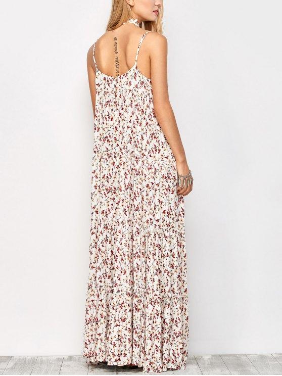Maxi Floral Printed Slip Dress - FLORAL L Mobile