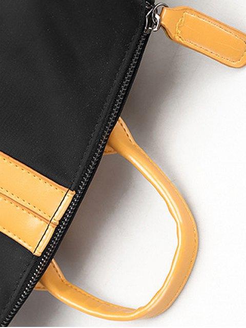shops PU Insert Nylon Backapck - YELLOW  Mobile