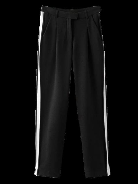 latest Color Block Activewear Pants - BLACK M Mobile