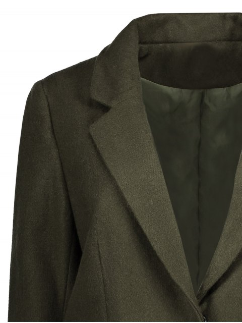 sale Wool Blend Masculine Coat - ARMY GREEN L Mobile