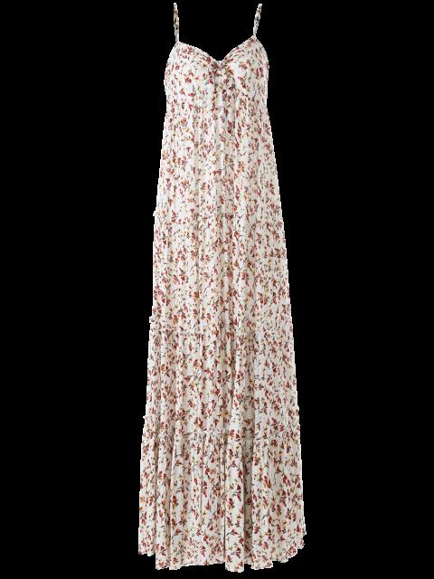 ladies Maxi Floral Printed Slip Dress - FLORAL L Mobile