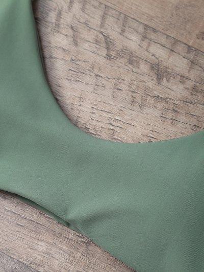 Tasselled Halter Bikini Set - ARMY GREEN XL Mobile
