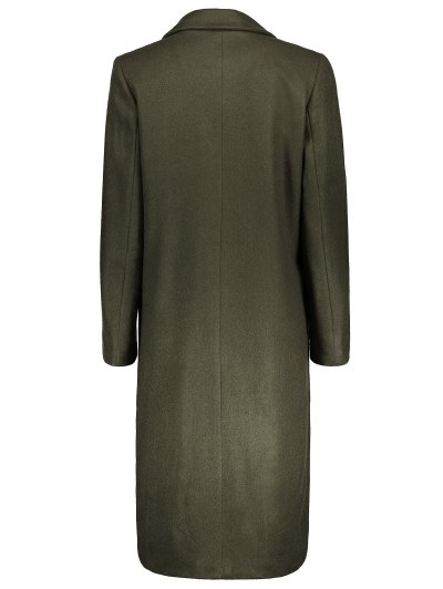 Wool Blend Masculine Coat - ARMY GREEN M Mobile