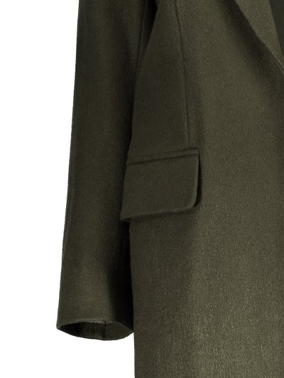 Wool Blend Masculine Coat - ARMY GREEN S Mobile