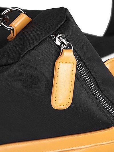 PU Insert Nylon Backapck - YELLOW  Mobile