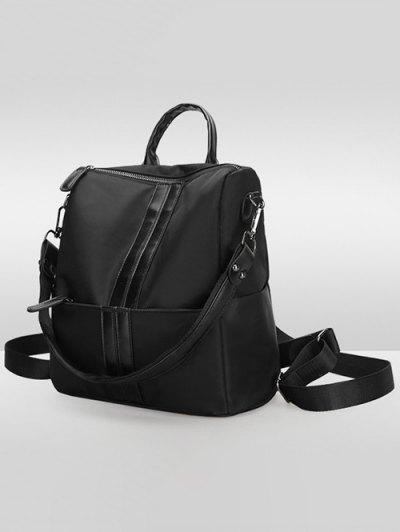 PU Insert Nylon Backapck - BLACK  Mobile