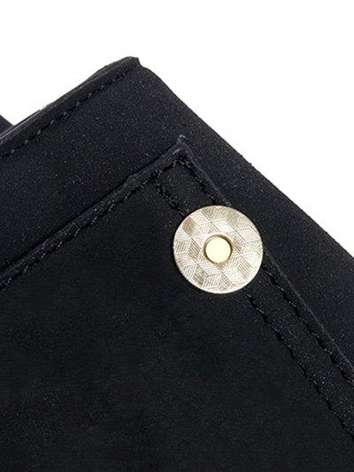 Suede Tassel Crossbody Bag - BLACK  Mobile