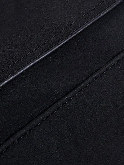 Suede Tassel Crossbody Bag - GRAY  Mobile