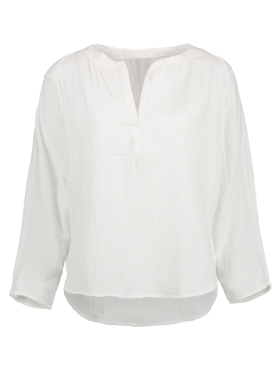 High-Low Blouse - White