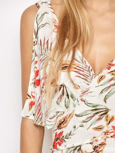 Side Slit Maxi Floral Dress - FLORAL M Mobile