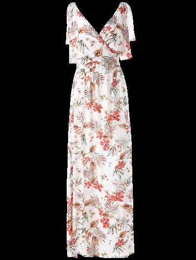 Side Slit Maxi Floral Dress - FLORAL S Mobile