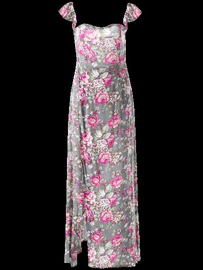 Maxi Off The Shoulder Dress - FLORAL L Mobile