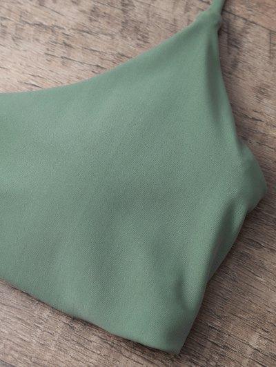 Tasselled Halter Bikini Set - ARMY GREEN L Mobile