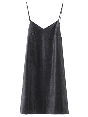 Mini Sweetheart Cami Dress - Black