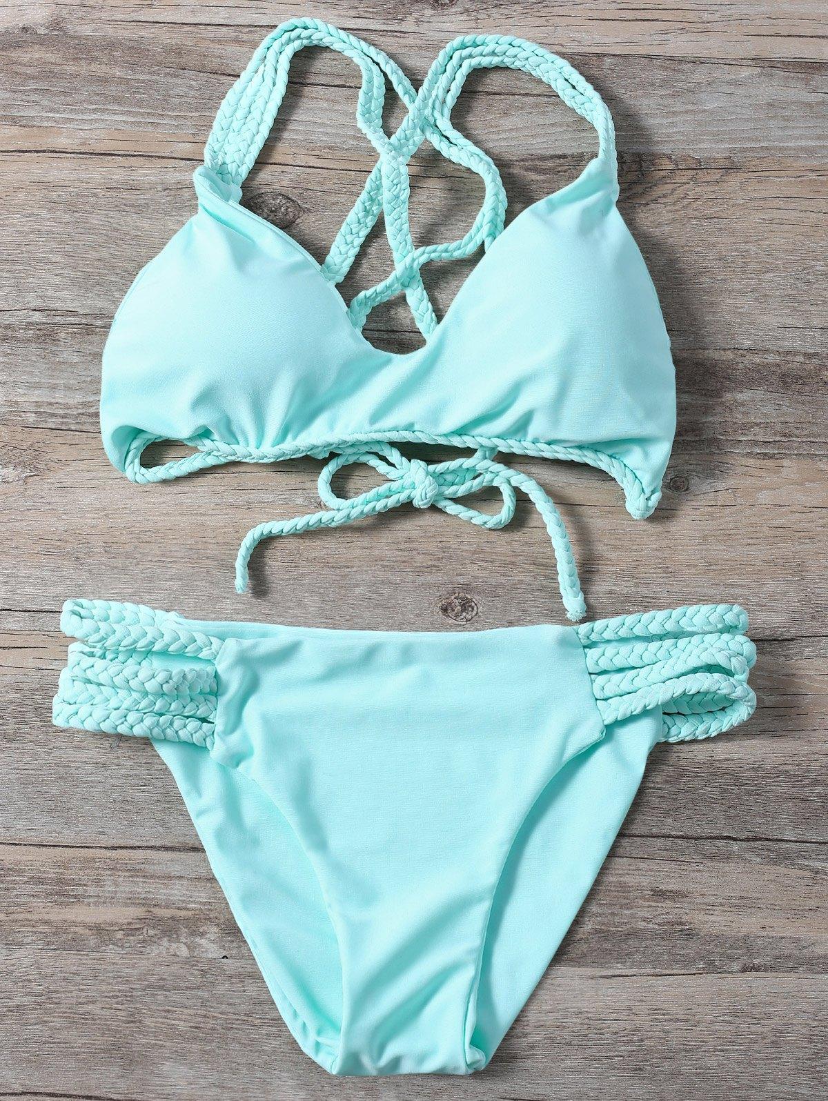 Braided Crisscross Strappy Bikini