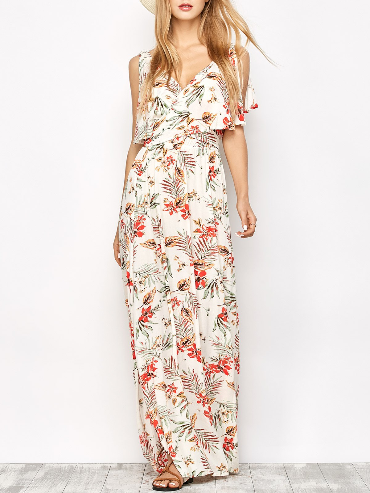 Floral Print Maxi Dress