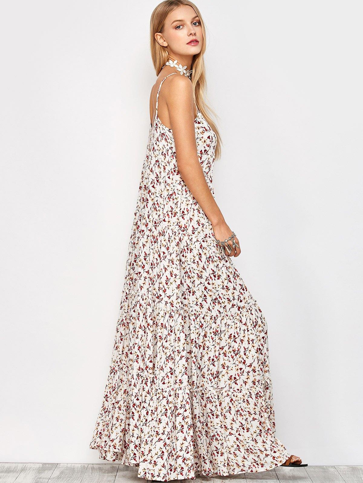 Maxi Slip Floral Dress
