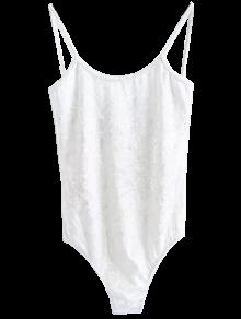نحيل المخملية ارتداءها - أبيض M