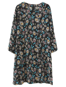 Tunic Peacock Feather Printed Dress