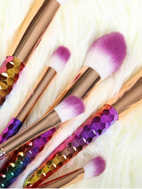 6 Pcs Ombre Makeup Brushes Set - GOLDEN  Mobile