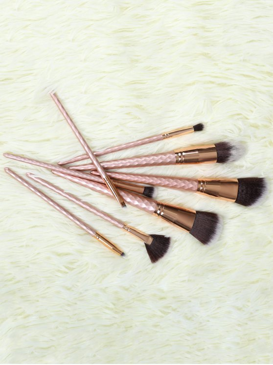 8 Pcs Makeup Brushes Set - ROSE GOLD  Mobile
