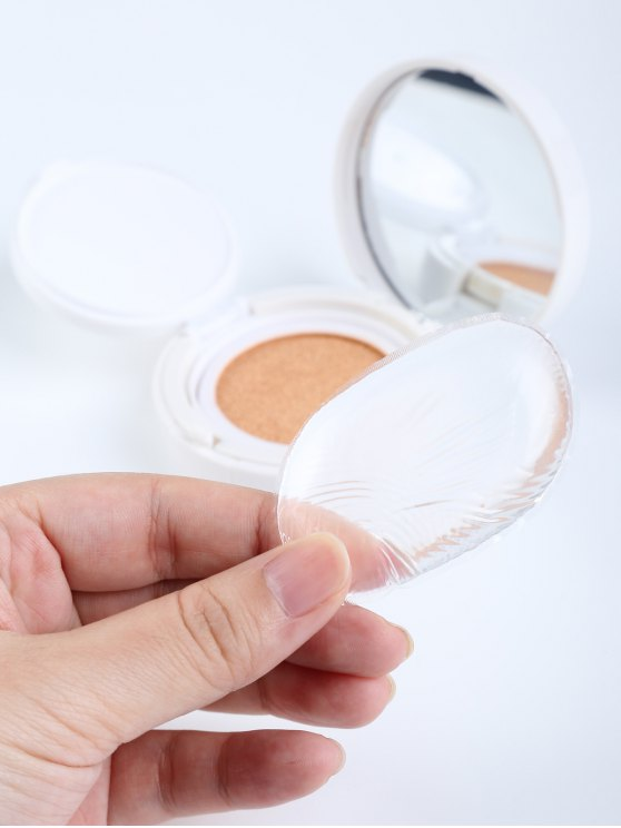 Oval Silicone Makeup Sponge - TRANSPARENT  Mobile