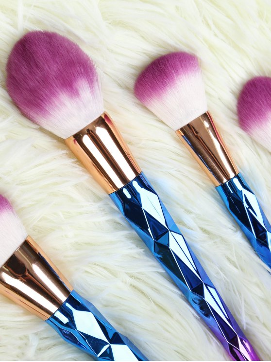 Ombre Makeup Brushes Set - BLUE  Mobile