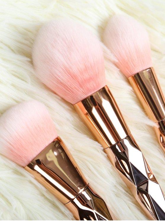 7 Pcs Rhombus Makeup Brushes Set - ROSE GOLD  Mobile