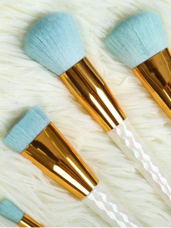 5 Pcs Makeup Brushes Set - WHITE  Mobile