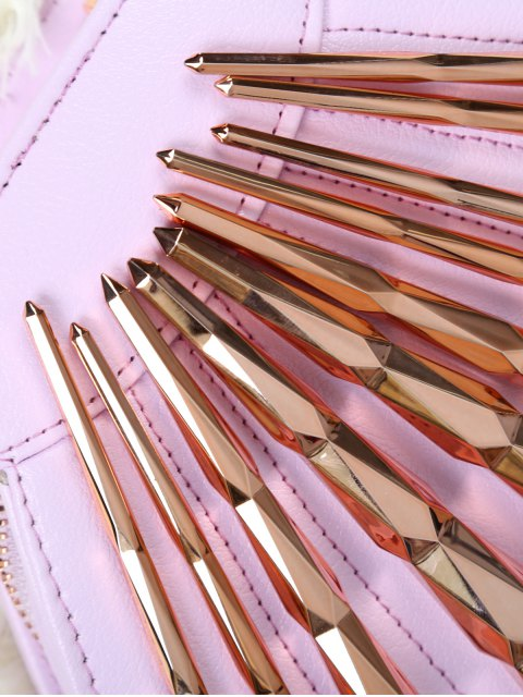 chic 10 Pcs Rhombus Makeup Brushes Set - ROSE GOLD  Mobile